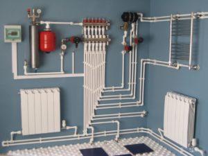 Отопление, схема разводки труб, монтаж отопления Симферополь