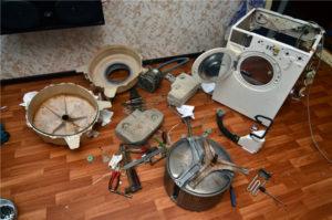 Ремонт стиралок, замена нагревательного тэна, барабана, подшипников и амортизаторов в Симферополе